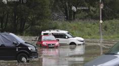 Sudul Franţei, afectat de furtuni; mai multe oraşe au fost inundate