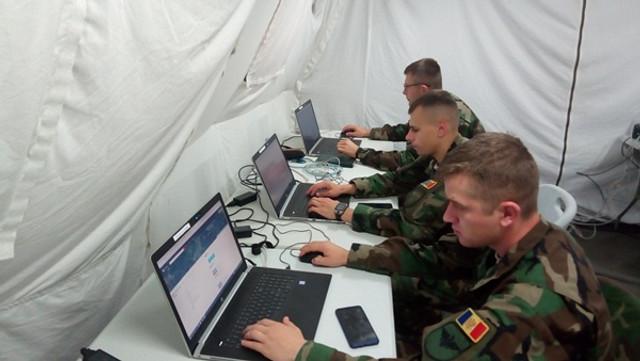"""Militari ai Armatei Naționale testează capacitățile de comandă și control, la exercițiul """"Cetatea 2019"""", din România"""