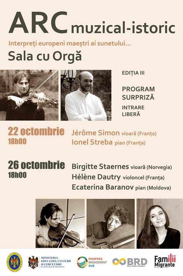 La Chișinău se desfășoară Festivalul ARC muzical-istoric. În program evolueaza interpreți europeni cu renume mondial