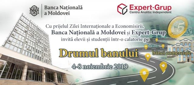 """Elevii și studenții sunt invitați la o lecție de educație financiară. """"Drumul banului"""" începe la BNM și continuă spre băncile comerciale"""