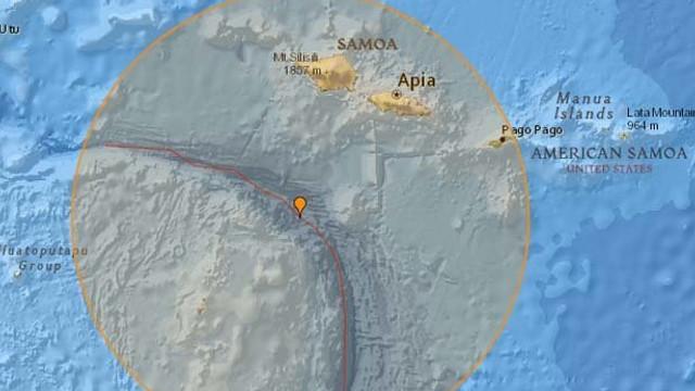 Cutremur cu magnitudinea 6 în largul Samoa (USGS)