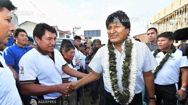 Alegeri în Bolivia: Evo Morales pe primul loc, dar obligat să participe la turul al doilea