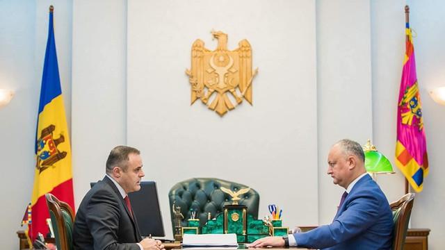 Asigurarea cu gaze naturale a R.Moldova și auditul intern de la Moldovagaz, discutate de Igor Dodon și Vadim Ceban
