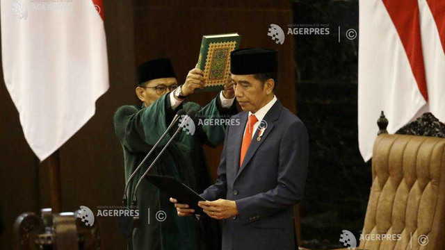 Indonezia: Joko Widodo a depus jurământul şi şi-a început al doilea şi ultim mandat prezidenţial