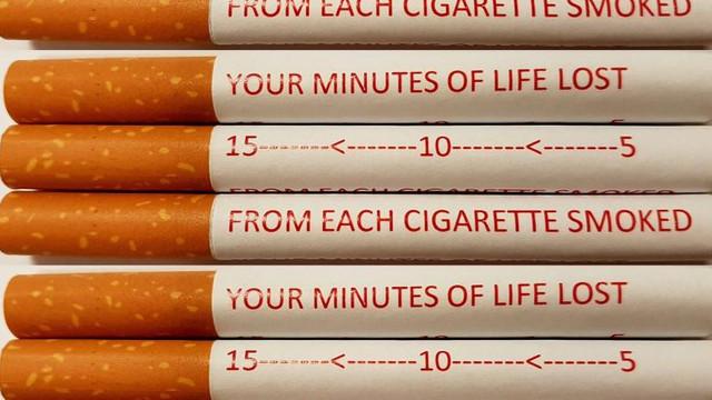 Mesajele anti-fumat, duse la un nou nivel: avertisment pe fiecare țigară, pentru a descuraja fumătorii