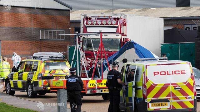 Marea Britanie: Poliţia confirmă că victimele din camionul din Essex sunt chinezi