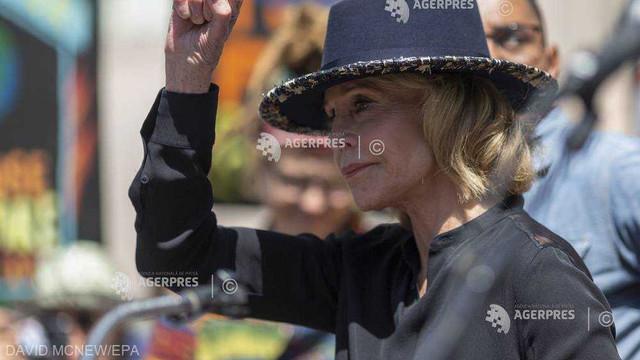 Jane Fonda, arestată la Washington în timpul unui protest pe tema schimbărilor climatice