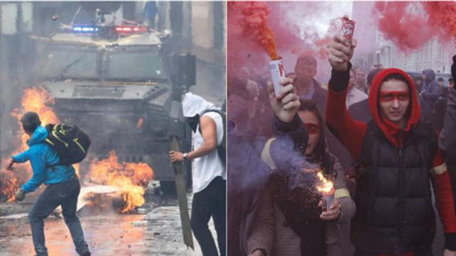"""FT: Micile """"scântei"""" au declanșat proteste de amploare la nivel mondial. Cum au schimbat rețelele sociale cele mai recente revolte"""