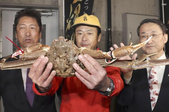 Preț record pentru un crab de zăpadă, vândut la licitație în Japonia pentru 41.600 de euro