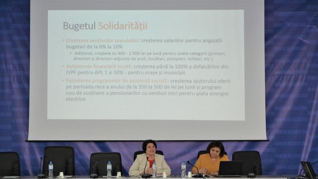 Natalia Gavrilița: Suntem deciși să continuăm creșterea salariilor
