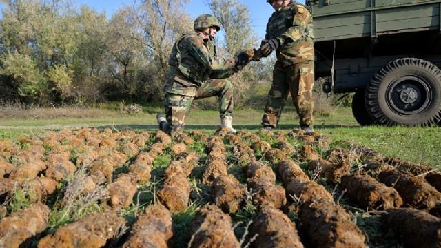 În luna octombrie geniştii Armatei Naţionale au identificat şi deminat peste 500 de obiecte explozive