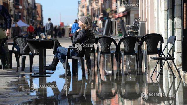 După declararea stării de urgență, Veneția este din nou amenințată de un episod de inundații
