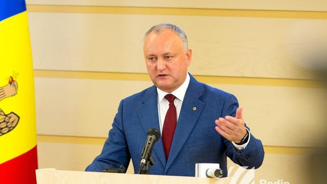 Igor Dodon anunță trei scenarii după discuțiile cu deputații PSRM și cei ai Blocului ACUM. Ce spune președintele despre ce ar putea urma după o eventuală cădere a Guvernului