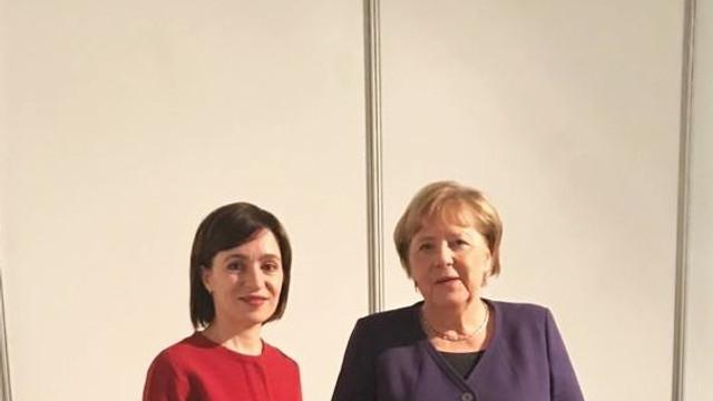 Maia Sandu: Angela Merkel m-a asigurat că UE va fi mereu de partea oamenilor din R.Moldova care vor să trăiască liber