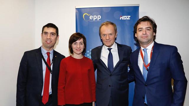 Maia Sandu, aflată la Congresul PPE, l-a invitat pe Donald Tusk la Chișinău