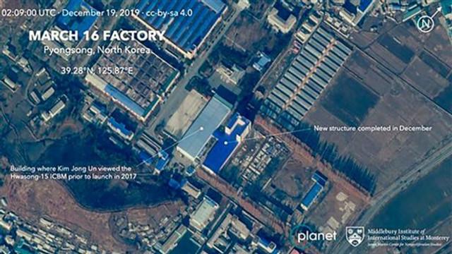 IMAGINI SATELIT | Coreea de Nord, suspectată că extinde un  nou complex pentru fabricarea rachetelor