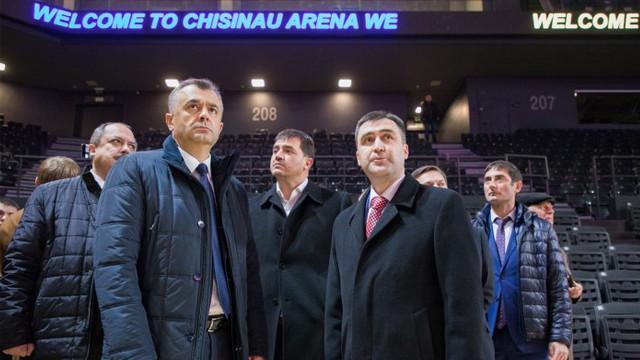 """Ion Chicu laudă proiectul PD """"Arena Chișinău"""". """"Acest obiectiv are o valoare enormă pentru dezvoltarea sportului, dar și a multor activități culturale în R.Moldova"""