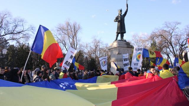 VIDEO   Marș dedicat Zilei Naționale a României și împlinirii celor 101 ani de la Marea Unire, la Chișinău