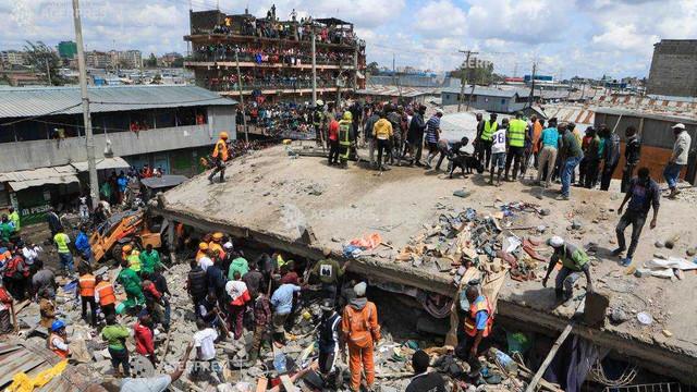 Kenya: O clădire de șase etaje s-a prăbușit într-o suburbie a capitalei Nairobi