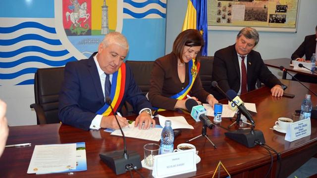 Cruzeștiul s-a înfrățit cu Giurgiu. Primarul Violeta Crudu: Îi mulțumesc poporului român