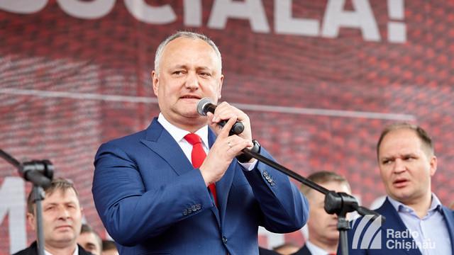 """Igor Dodon: """"Eventualele alegeri parlamentare anticipate ar trebui să aibă loc în baza sistemului electoral proporțional"""""""