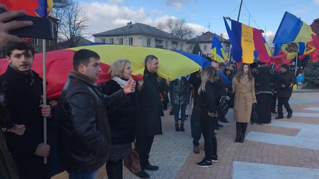 GALERIE FOTO | 1 decembrie, sărbătoare la Orhei. S-a jucat Hora Unirii și s-a cinstit memoria celor care au înfăptuit Unirea