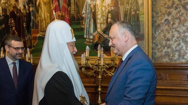 Igor Dodon se află la Sankt Petersburg, după ce s-a întâlnit la Moscova cu Patriarhul Kirill