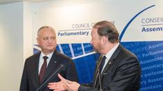Igor Dodon a avut o întrevedere cu Președintele APCE și Secretarul General al CE