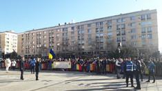 FOTO/VIDEO | Sute de persoane s-au adunat în Piaţa Unirii din Iaşi pentru a participa la manifestările dedicate zilei de 24 ianuarie