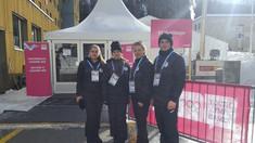 La Lausanne au evoluat și reprezentanții probei de sanie