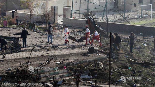Avionul ucrainean prăbușit la Teheran nu a fost lovit de o rachetă, susține Iranul