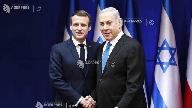 Negarea Israelului ca stat ţine de antisemitism, declară Emmanuel Macron la Ierusalim