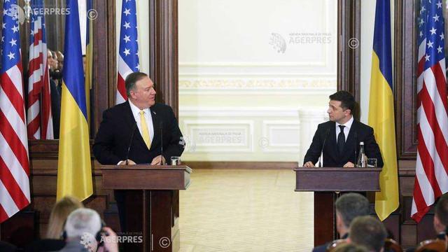 Sprijinul american în Ucraina ''nu va scădea'', asigură Mike Pompeo, aflat în vizită la Kiev