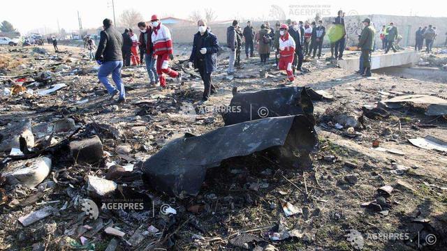 Echipele de salvare au găsit cutia neagră a avionului de pasageri ucrainean prăbușit lângă Teheran