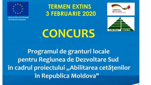 A fost extins termenul de aplicare la Programul de granturi locale pentru Regiunea Sud