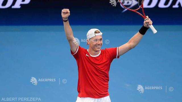 Tenis: Canada - Grecia 3-0 la ATP Cup, după ce Shapovalov l-a învins pe Tsitsipas