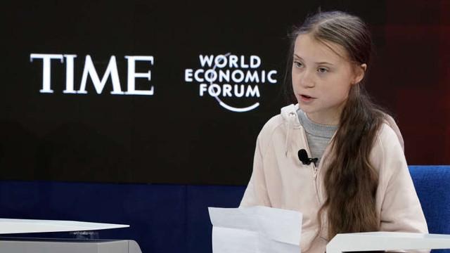 ''Nu s-a făcut nimic'' pentru climă, deplânge Greta Thunberg la Davos