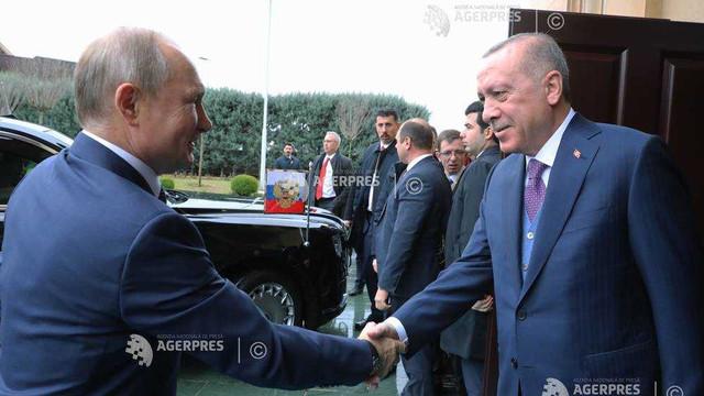 Președinții Turciei și Rusiei au inaugurat gazoductul TurkStream