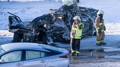 Carambol cu 200 de maşini pe un drum de mare viteză, în apropiere de Montreal. Doi oameni au murit