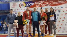 Trei medalii la turneul de sambo din Belarus