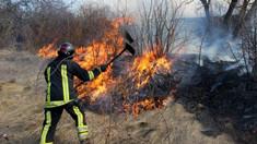 Pompierii au intervenit în peste 50 de situaţii de lichidare a focarelor de ardere a vegetaţiei
