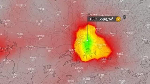 Substanţa detectată de sateliţii meteo deasupra oraşului Wuhan indică un scenariu sumbru