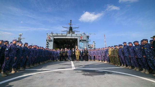 FOTO | România exportă prima navă militară de patrulare construită integral la Galați
