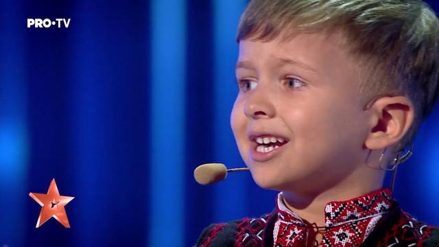 """VIDEO   Moment deosebit de emoționant la """"Românii au talent"""". Băiețel de doar 4 ani, din Chișinău: """"Unire, frați români! O Românie avem, pe viață și pe moarte"""""""