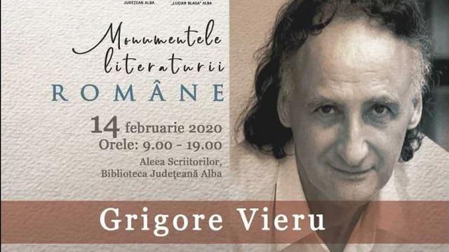 Grigore Vieru, omagiat la Alba Iulia, la 85 de ani de la naștere