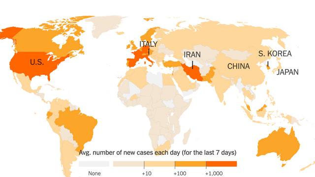Singurele țări din lume care nu au raportat cazuri de coronavirus. Coreea de Nord susține că nu are niciun caz