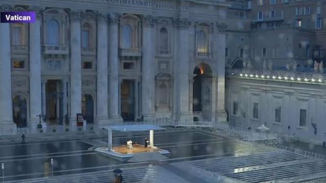 VIDEO | Moment special la Vatican: Papa Francisc, mesaj și rugăciune pentru omenire, în plină pandemie