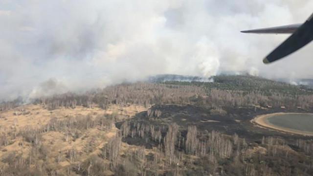 Aviația ucraineană, mobilizată pentru a lupta împotriva unui incendiu de pădure în zona de excludere de la Cernobîl