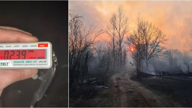VIDEO   Măsurător Geiger - Nivelul radiațiilor a crescut din cauza incendiului din pădurile radioactive de lângă Cernobîl