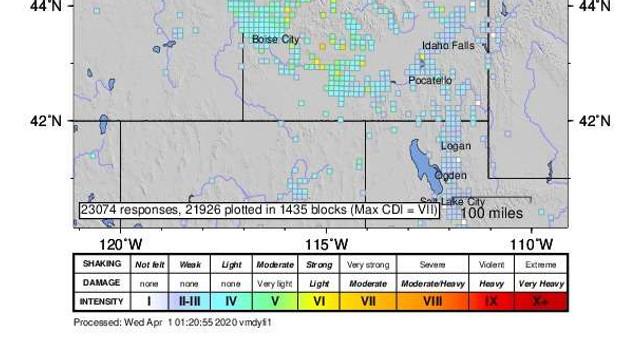 SUA: Cutremur cu magnitudinea 6,5 într-o regiune izolată din Idaho